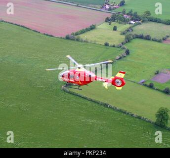 WEST MIDLANDS AIR AMBULANCE - Stock Photo