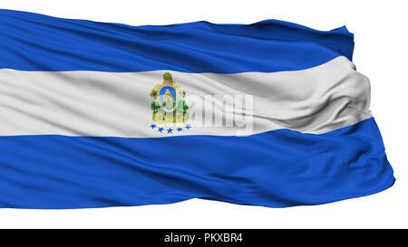 Honduras Naval Ensign Flag, Isolated On White Background, 3D Rendering - Stock Photo