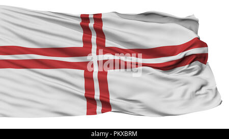 Latvia Naval Ensign Flag, Isolated On White Background, 3D Rendering - Stock Photo