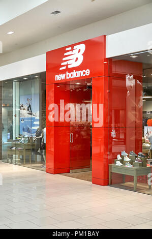AVENTURA, USA - AUGUST 23, 2018: New Balance famous boutique in Aventura Mall - Stock Photo