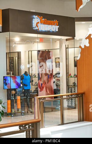 AVENTURA, USA - AUGUST 23, 2018: Runner's Depot famous boutique in Aventura Mall. - Stock Photo