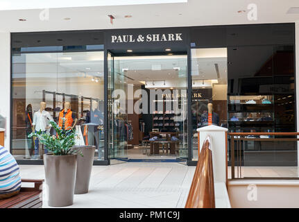 AVENTURA, USA - AUGUST 23, 2018: famous boutique in Aventura Mall. Paul and Shark is an Italian clothing brand founded by Paolo Dini - Stock Photo