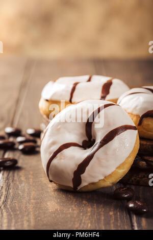 Glazed mini donuts - Stock Photo