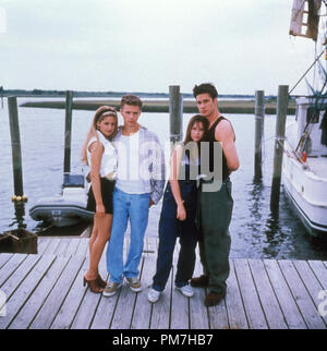 Film Still from 'I Know What You Did Last Summer' Sarah Michelle Gellar, Ryan Phillippe, Jennifer Love Hewitt, Freddie Prinze Jr. © 1997 Mandalay Photo Credit: J. Bridges  File Reference # 31013294THA  For Editorial Use Only - All Rights Reserved - Stock Photo