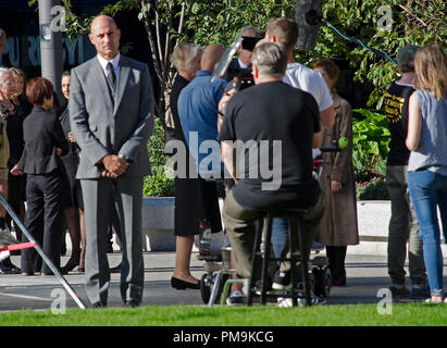 London, UK. 16th Sep 2018. Mark Strong on the set of Temple. London, England Credit: Jack Davis/Alamy Live News - Stock Photo