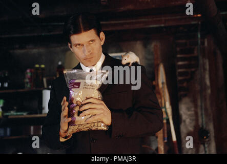 Crispin Glover as 'Willard' with 'Socrates' prepares to feed his new friends in New Line Cinema's horror film, Willard. 2003 - Stock Photo
