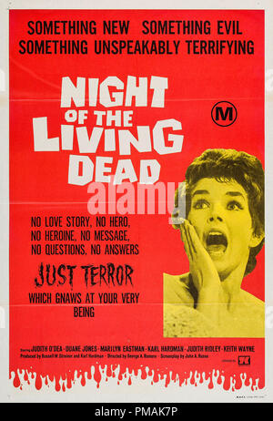 'Night of the Living Dead' 1968 Poster  File Reference # 33300_288THA - Stock Photo