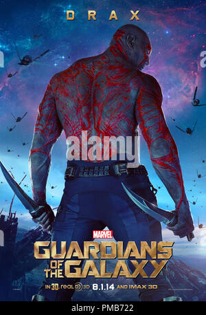 Marvel's Guardians Of The Galaxy Poster -  Drax - Stock Photo