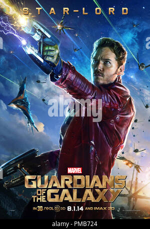 Marvel's Guardians Of The Galaxy Poster - Star-Lord - Stock Photo