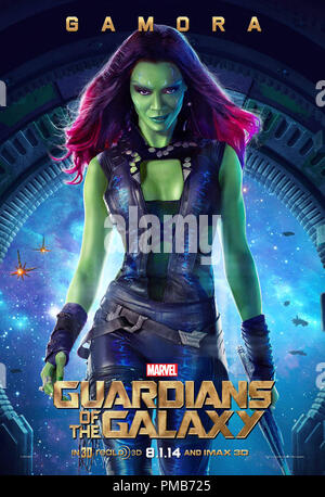 Marvel's Guardians Of The Galaxy Poster - Gamora - Stock Photo