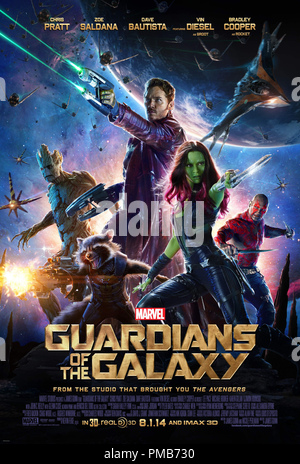 Marvel's Guardians Of The Galaxy Poster - Stock Photo
