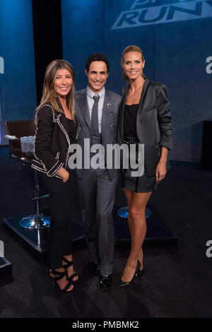 Nina Garcia, Zac Posen and Heidi Klum, 'Project Runway', Season 13 - Stock Photo