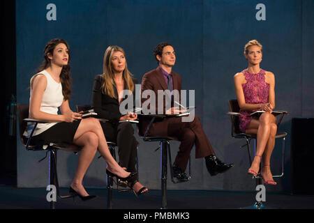 Emmy Rossum, Nina Garcia, Zac Posen and Heidi Klum, 'Project Runway', Season 13 - Stock Photo
