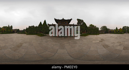 Xi'an - Beilin Museum - Book of Filial Piety Pavilion - Stock Photo