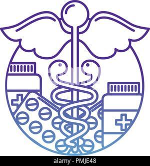 caduceus healthcare medicine pharmacy symbol - Stock Photo