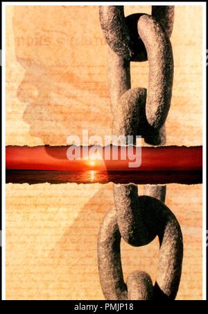 Prod DB © DreamWorks SKG - HBO / DR AMISTAD de Steven Spielberg 1997 USA visuel d'affiche historique, 19eme siecle, XIXeme siecle, 1830's, esclavagisme, esclavage, chaine, esclave - Stock Photo