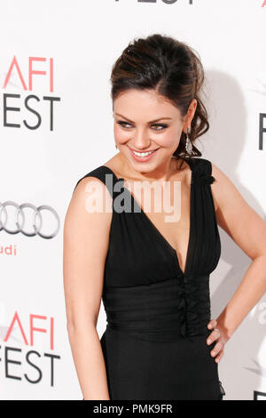 Mila Kunis at the AFI Fest 2010 Premiere of 'Black Swan'. Arrivals held at Grauman's Chinese Theatre in Hollywood, CA, November 11, 2010. Photo by Joseph Martinez / PictureLux File Reference # 30689_058PLX   For Editorial Use Only -  All Rights Reserved - Stock Photo