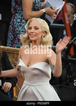 Oscar®-nominee, Lady Gaga, arrives at The 88th Oscars® at the Dolby® Theatre in Hollywood, CA on Sunday, February 28, 2016.  File Reference # 32854_283THA  For Editorial Use Only -  All Rights Reserved - Stock Photo