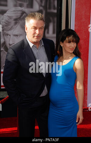 Alec Baldwin and wife Hilaria Baldwin at the 2016 TCM Classic Film Festival held at the TCL Chinese Theater in Hollywood, CA, April 28, 2016. Photo by Joe Martinez / PictureLux - Stock Photo