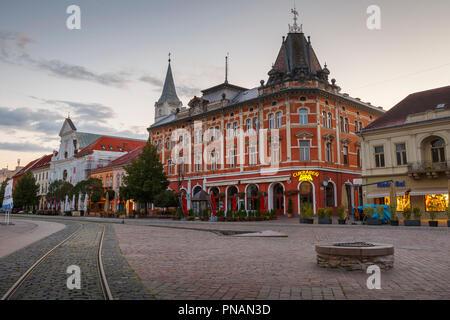 Kosice, Slovakia - August 12, 2018: Neo-Renaissance Andrassy Palace in the main square of Kosice city in eastern Slovakia. - Stock Photo