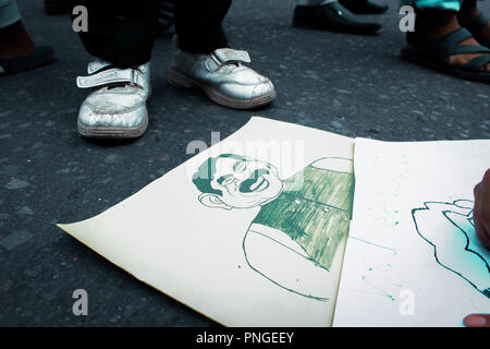 Student protest in bangladesh - Stock Photo