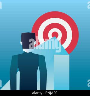 businessman arrow pointing target business vector illustration - Stock Photo