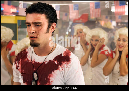 Prod DB © Universal Pictures - Wild Bunch / DR SOUTHLAND TALES de Richard Kelly 2006 USA avec Justin Timberlake cicatrice - Stock Photo