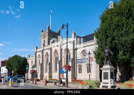 St. Peter's Church, Windsor Street, Chertsey, Surrey, England, United Kingdom - Stock Photo