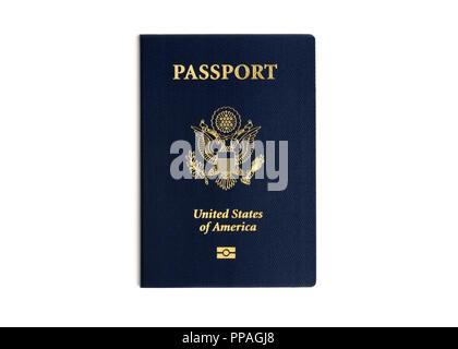 Passport United States passport - Stock Photo
