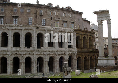 Italy. Rome. Theatre of Marcellus. 1st century BC. Exterior. - Stock Photo