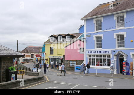 Glyn Square, New Quay, Cardigan Bay, Ceredigion, Wales, Great Britain, United Kingdom, UK, Europe - Stock Photo