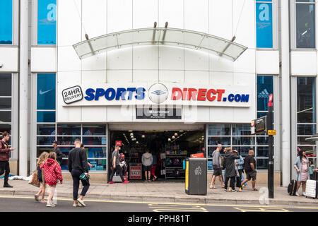 Sports Direct store, Brighton, Sussex, England, GB, UK - Stock Photo