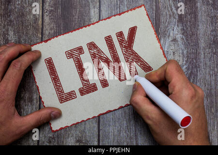 Word writing text Link. Business concept for Loop in a chain Network of routes between webpages Connection. - Stock Photo