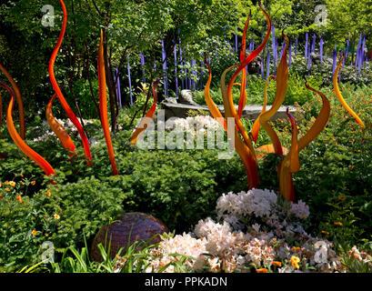Dale Chihuly, hand blown glass, Seattle, Washington State, USA - Stock Photo