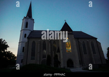 Stained glass on Cathedral of Austria. - Stock Photo
