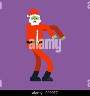 Santa Claus zombie. Christmas grandfather horror. Halloween New Year - Stock Photo