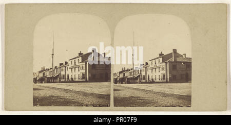 Scarisbrick Arms, Lord Street, Southport; British; about 1865; Albumen silver print - Stock Photo