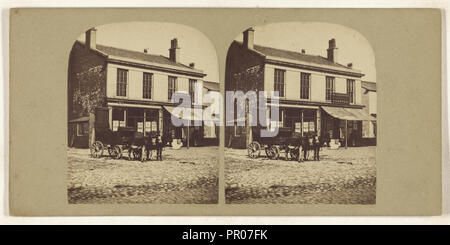 Lord Street. Southport; British; about 1865; Albumen silver print - Stock Photo