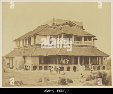 Bank's House; Felice Beato, 1832 - 1909, India; 1858; Albumen silver print - Stock Photo