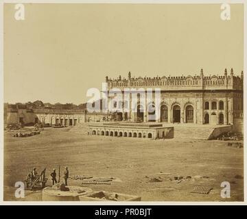 The Small Imambara; Felice Beato, 1832 - 1909, India; 1858; Albumen silver print - Stock Photo