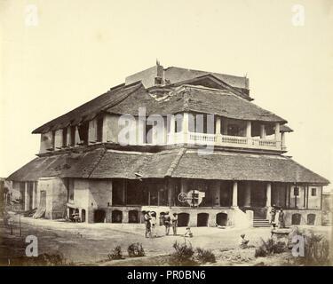 Banks' House; Felice Beato, 1832 - 1909, Henry Hering, 1814 - 1893, India; 1858 - 1862; Albumen - Stock Photo