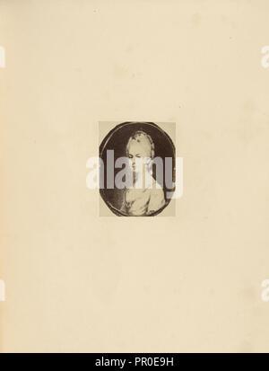 The Duchess of Rutland; Charles Thurston Thompson, English, 1816 - 1868, London, England; 1865; Albumen silver print - Stock Photo