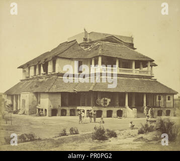 Major Banks' House; Felice Beato, 1832 - 1909, Lucknow, Uttar Pradesh, India; 1858; Albumen silver print - Stock Photo