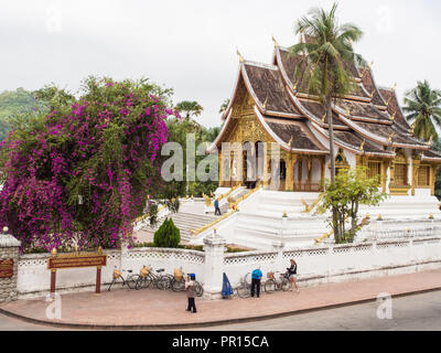 Haw Pha Bang temple, part of the National Museum complex, Luang Prabang, Laos, Indochina, Southeast Asia, Asia - Stock Photo