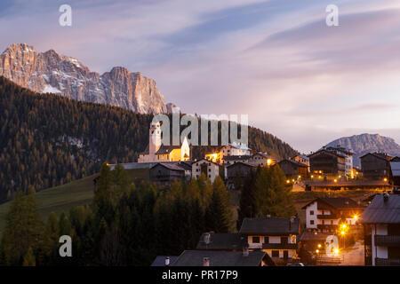 Colle Santa Lucia in the Dolomites, Belluno, Veneto, Italy, Europe - Stock Photo