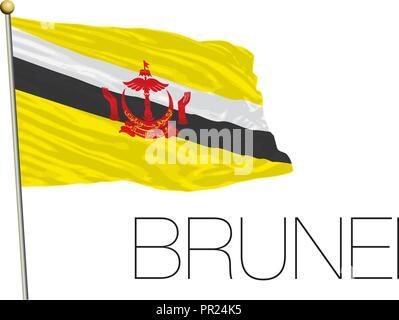 Brunei flag, vector illustration - Stock Photo
