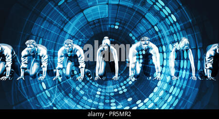 Empowered By Technology Solutions as a Concept - Stock Photo