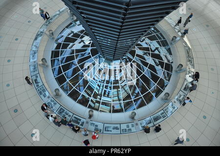 Reichstag Dome inside - Berlin, Germany - Stock Photo