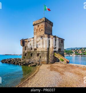 italian castle panorama - Stock Photo