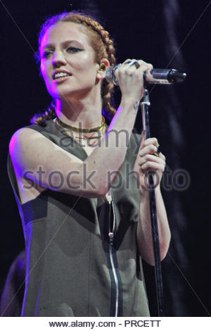 Jess Glynne at Free Radio Live at the Genting Arena in Birmingham on Saturday 28 November 2015 - Stock Photo